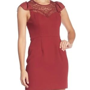 BCBGeneration: Flirty Sleeve Fit & Flare Dress
